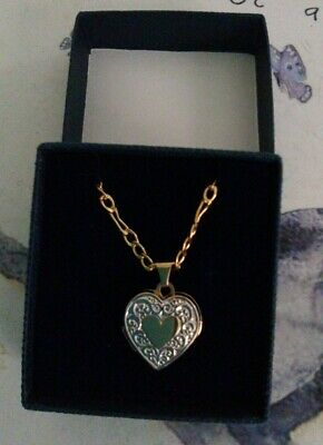 9ct Gold Heart Locket And Chain • 56£