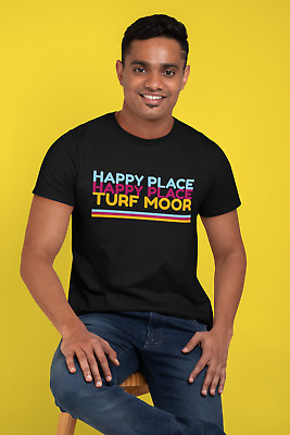 Happy Place Turf Moor T-Shirt Jordan Im A Celebrity Burnley Football Colours Tee • 14.95£