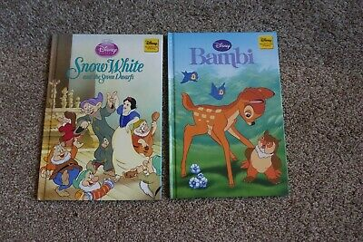 Disney, Bambi And Snow White And The Seven Dwarfs, Hardback Books • 1.50£