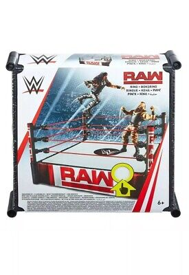 """SALE HTF WWE RAW Superstar Ring Playset Official BNIP SPRING LOADED MAT 13"""" BOYS • 31.98£"""