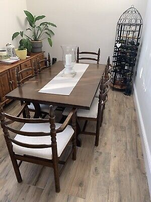 Younger Toledo Solid Chestnut Wood 6-Seater Dining Table And 6 Matching Chairs • 150£