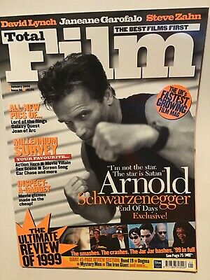 Total Film Magazine January 2000 Arnold Schwarzenegger End Of Days David Lynch • 2.40£