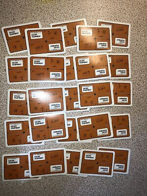 Vintage Escape From Colditz Board Game 73 Spare Cards 25 Escape Equipment • 6.99£