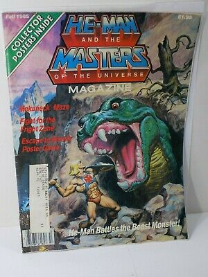 $19.99 • Buy MOTU HE-MAN AND THE MASTERS OF THE UNIVERSE Vol 1 #4 FALL 1985 POSTERS Magazine