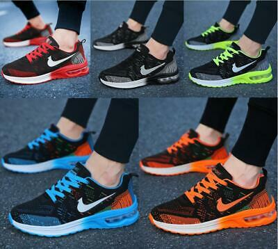 Mens Womens AIR Sports Running Shoes Trainers Mesh Comfort Breathable Sneakers • 15.99£
