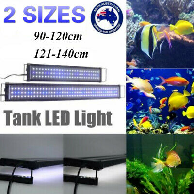 AU78.52 • Buy 90-140CM Aquarium LED Lighting 3ft/4ft Marine Aqua Fish Tank Light Blue White OZ