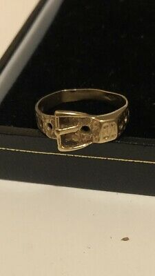 A Vintage 9ct Gold Buckle Ring, 1.64g Hallmarked - Size L Not Scrap! • 31£