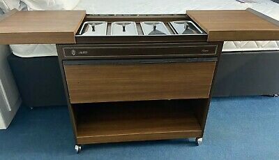 Original Philips 80s Ekco Royal Hostess Trolley 4 Glass Dishes & Warming Drawer • 49.99£