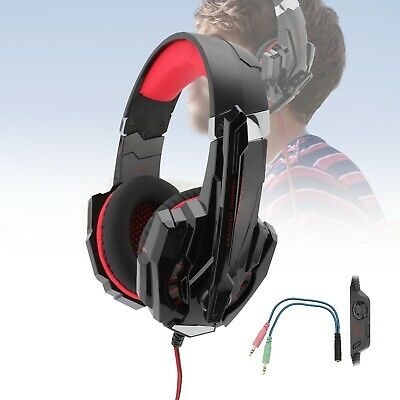 AU14.79 • Buy Durable Stereo Gaming Headset Headphone Wired With Mic For PC Xbox One PS4 AU