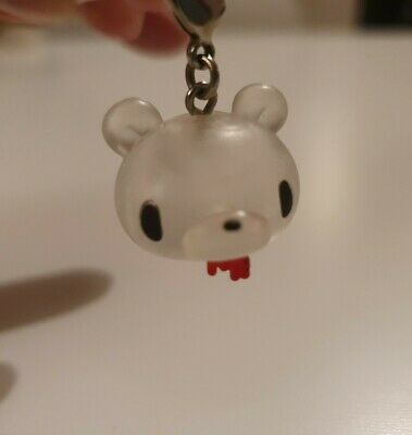 Kidrobot Mori Chack Gloomy Bear Clear Head Zipper Pull • 2.50£