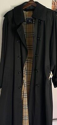 $400 • Buy BURBERRY DOUBLE BREASTED MEN SIZE 48Long  COAT RAINCOAT WITH DETACHABLE LINER