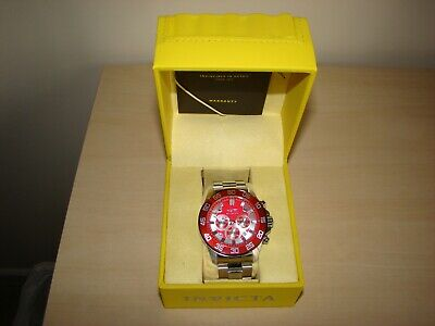 View Details INVICTA MENS CHRONOGRAPH WATCH - RED FACE - MODEL No 24722 MADE IN JAPAN • 42.00£