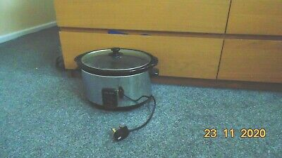Morphy Richards 48715A Oval Slow Cooker - Silver • 8.99£