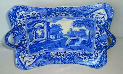 Antique Copeland Spode Italian Blue Footed 2 Handled Comport Dish Centre Piece • 75£