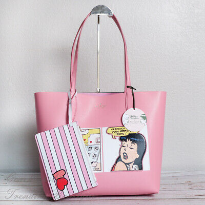 $ CDN168.40 • Buy NWT Kate Spade X Archie Comics Leather Reversible Tote In Pink Limited Edition