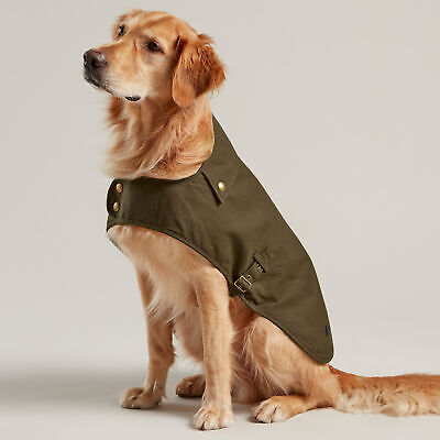 Joules Wax Pet Accessory Dog Jacket - Olive All Sizes • 42.95£