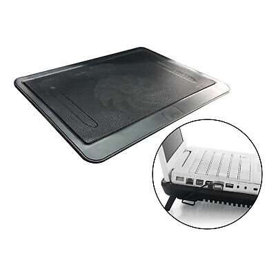 New Portable Laptop Cooler Mat Quiet Cooling Pad Tray 1 Fan Bracket Black • 8.94£
