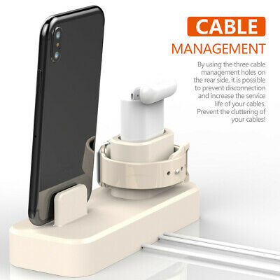 AU31.18 • Buy 3 In 1 Charging Dock Holder Charger Stand Station For AirPods/iPhone/Apple Watch