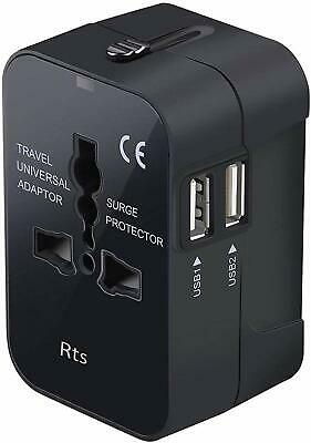 AU58.06 • Buy Universal All In One Worldwide Travel Adapter Wall Charger AC Power Plug Adapter