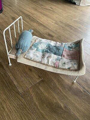 Maileg Iron Mouse Bed With Covers Children Toy • 31£