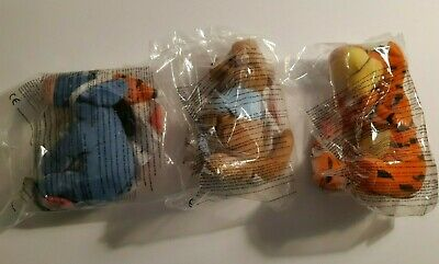 McDonalds Happy Meal Promotion Winnie The Pooh Figures - Three New In Bags • 2.99£