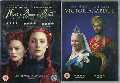 Bundle Of 2 Historical Drama DVDs - Mary Queen Of Scots / Victoria & Abdul • 3.95£