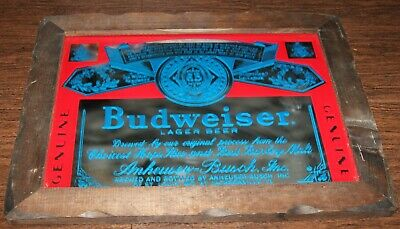 $ CDN65.39 • Buy Budweiser Beer Lager Vintage Bar Mirror Sign Jacksonville FL Wooden Framed 19x15