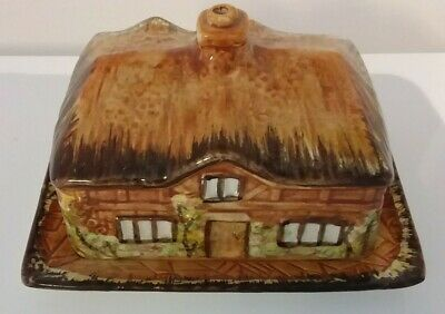Vintage Price Bros Cottage Ware Butter Dish Made In England  • 6.99£
