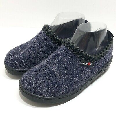Haflinger Wool Hard Sole Slippers Womens 36 Speckle Navy Outdoor Made In Germany • 34.23£