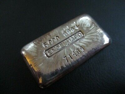 $ CDN582.55 • Buy Engelhard 5 Oz Silver Bar, Ingot Beautiful Pour Lines