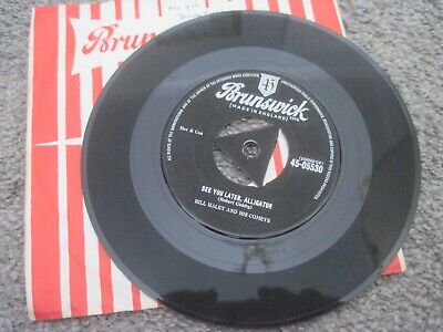 BILL HALEY AND HIS COMETS See You Later Alligator 1956 TRI CENTRE BRUNSWICK  VG+ • 2£