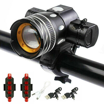 15000LM LED T6 MTB Bicycle Lights Bike Headligh Front Rear  Set USB Rechargeable • 12.99£