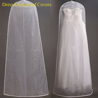 £4.48 • Buy Wedding Dress Garment Protector Dust-proof Covers Bride Gown Storage Bags