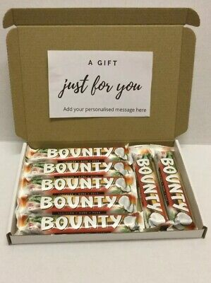 Bounty Dark Chocolate , Coconut Gift Hamper Box Personalised B'day Mother's Day • 9.99£