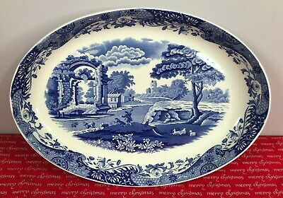 Spode Imperial Cookware Blue Italian Oval Serving Dish • 8.50£