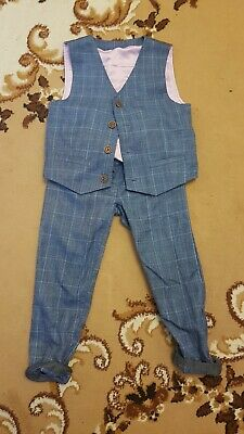 Matalan Boys Short Suit Blue Age 3 To 4 • 5.99£