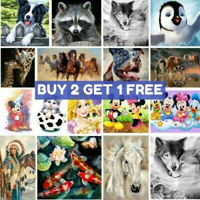 £6.99 • Buy DIY Round Drill 5D Diamond Painting Embroidery Animal Painting Craft Art Gifts