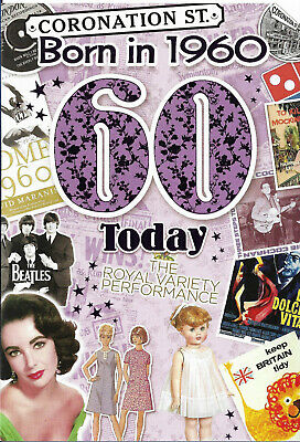 60th Birthday Female Year You Were Born Card. With Facts About 1960 • 2.65£