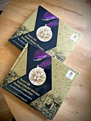 £156.99 • Buy London 2012 Olympic Compendium Team GB Gold Medal Winners Stamp Collection