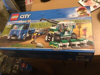LEGO City 60223 Combine Harvester Transport With Truck And Trailer Retired Set • 25£