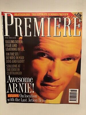 Premiere June 1993 Arnold Schwarzenegger  Falling Down Cliffhanger Mad Dog  • 2.50£