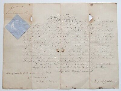 £299.99 • Buy 1881 Queen Victoria Genuine Hand Signed Autograph Officer Commission Document
