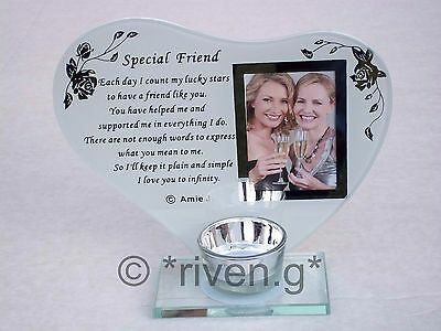 £9.99 • Buy SPECIAL FRIEND@CANDLE Holder@PICTURE Keepsake@BEST FRIENDSHIP GIFT@PHOTOGRAPH