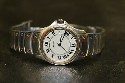 $ CDN1800 • Buy Men's Cartier Santos Round Stainless Steel & Gold 33mm Automatic Watch Ref: 1910