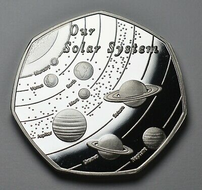 OUR SOLAR SYSTEM .999 Silver Commemorative. Space/Planets/Stars Earth/Moon/Mars  • 3.70£