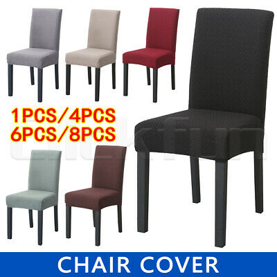 AU6.99 • Buy 1-8PCS Dining Chair Covers Soft Thick Spandex Cover Stretch Banquet  Slipcovers