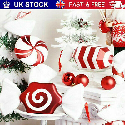 £12.99 • Buy Christmas DIY Red & White Candy Hanging Pendant Ornaments Xmas Tree Decor 30CM