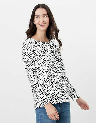 Joules Womens Harbour Print Long Sleeve Jersey Top - Spot Print • 14.95£