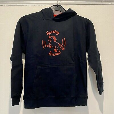 Black Pony Hoodie Child's Age 7 8 • 5£