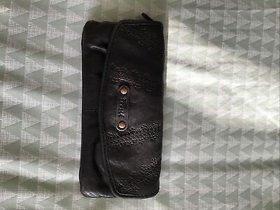 Fossil Black Leather Purse • 5£